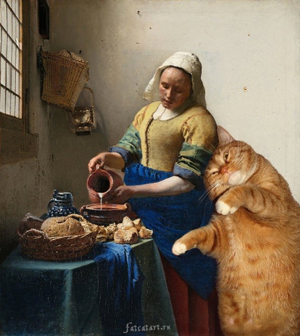 "Bức họa ""The Kitchen Maid"" của Johannes Vermeer<br />"