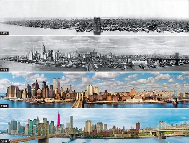 New York, USA, 1876-1932-1988-2013